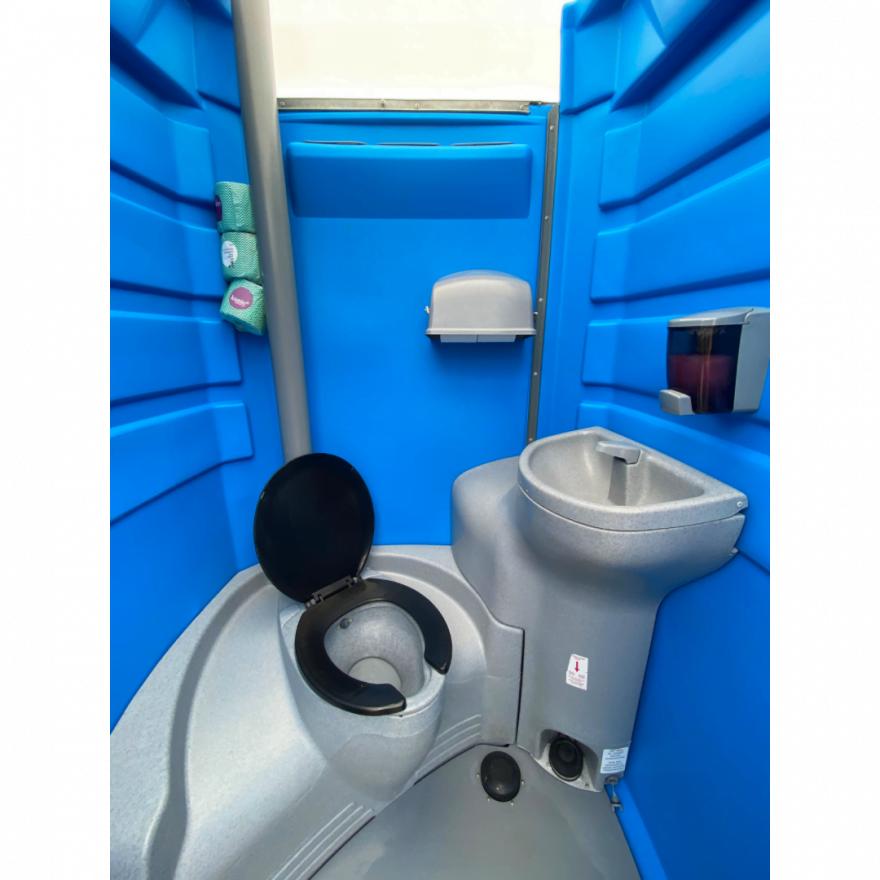 portable toilet interior construction