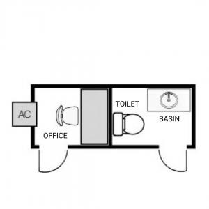 mini site office floorplan