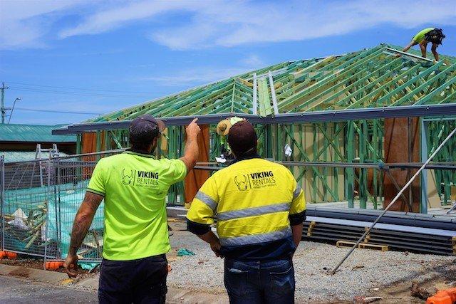 Viking Rentals team on construction site