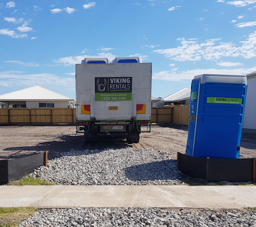 Viking Rentals delivery of Portable Toilet for Construction Site
